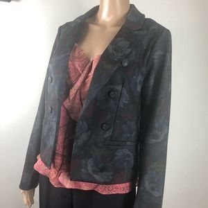 Roz & Ali floral jacket size small